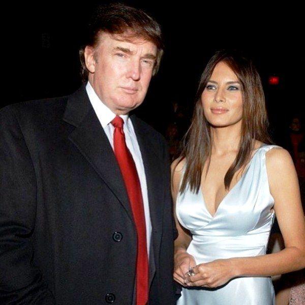 Donald Trump with Melania Knauss