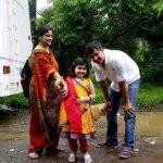 Amrita Mukherjee with her parents