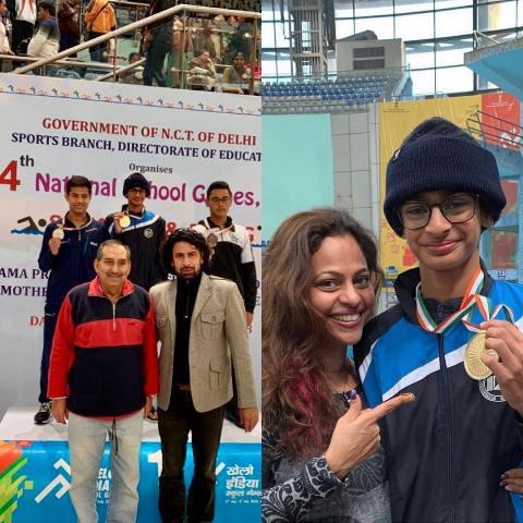 R. Madhavan's son won a gold at the Junior Nationals Swim meet