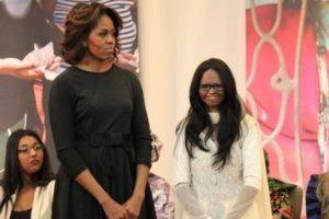 Laxmi Agarwal with Michelle Obama