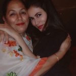 Mansha Bahl with her mother