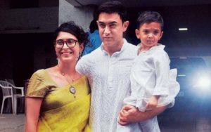 Aamir Khan With His Wife Kiran And Son