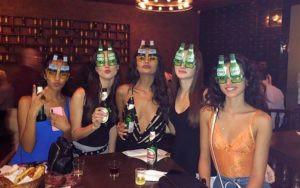Carolina Moura Drinking Alcohol
