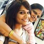 Kathi Karthika with mother
