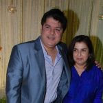 Farah Khan with her younger brother, Sajid Khan