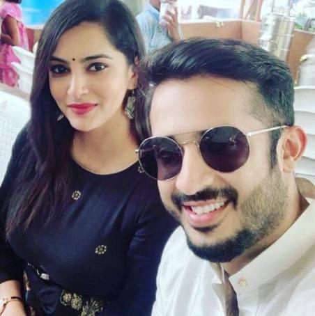 Himaja Reddy with her husband