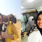 Keerthy Suresh, an avid animal and bird lover