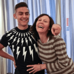 Paulo Dybala with his Mother