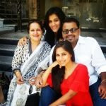 Veebha Anand with her family