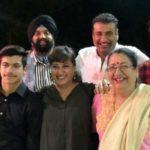Karan Oberoi With His Parents And Siblings