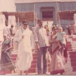 Parakala Prabhakar with his sister, and brother in law