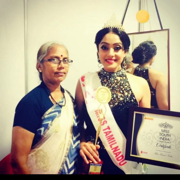 Abhirami Venkatachalam With Her Miss South India Award