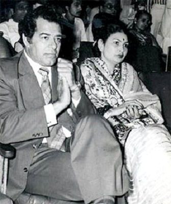 Dara Singh with his wife 'Surjit Kaur Aulakh'
