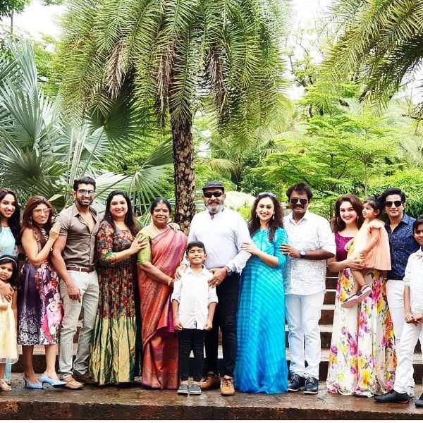 Arun Vijay with His Family