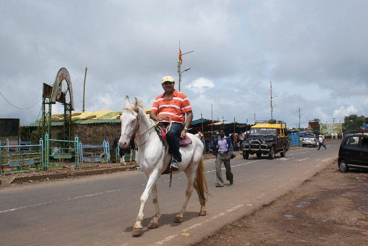 Abu Malik while riding a horse