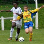 Romelu Lukaku playing for Anderlecht aged 13