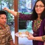 Ramesh Tendulkar daugher Savita and son Sachin Tendulkar