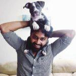 Ajay Manthena loves dogs