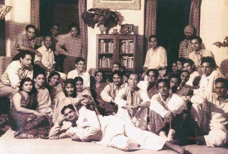SD Burman with Guru Dutt, Madan Puri, Uma Anand and Others