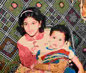 Kubbra Sait's Childhood Photo With Her Brother