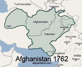 Durrani Empire at its largest Extent under Ahmad Shah Durrani