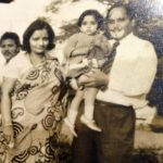 Sonali Jaffar (Childhood) with her parents