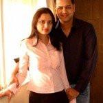 Rahul Mahajan with Shweta Singh