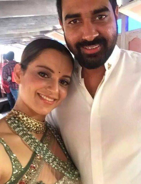 Director Krish with Kangana Ranaut