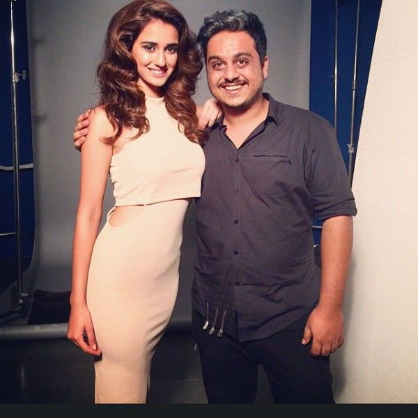 Disha Patani With Her Hairstylist