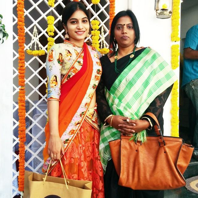 Punarnavi Bhupalam with her mother
