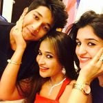Nidhi Shah with mother and brother