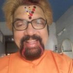 Anil Thatte- art on his forehead