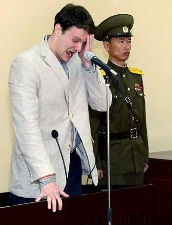 Otto Warmbier cracked up before getting a 15 year hard labour punishment