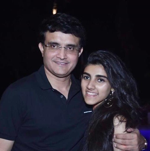 Sana Ganguly with her father