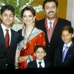 Noman Ijaz with his wife and three sons