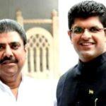Ajay Singh Chautala with Dushyant Chautala