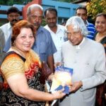 Abhinav Kohli mother Poonam Kohli with A. P. J. Abdul Kalam