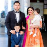 Gurpreet Kaur Bhangu's Daughter Poonam Bhangu with her husband and sons