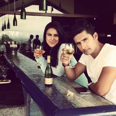 Nia Sharma With A Glass of Wine