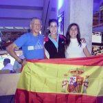 Carolina Marin with Parents