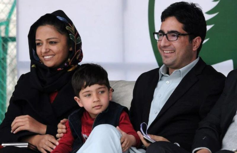 Shehla Rashid With Shah Faesal at the Launch of the Jammu and Kashmir People Movement Political Party