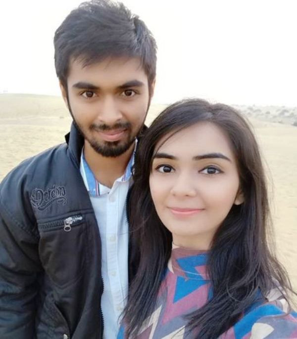 Dhruvi Jani with Her Brother- Rahul