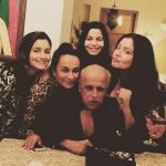 Pooja Bhatt with her dad and step family