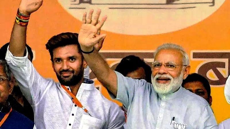 Chirag Paswan with Narendra Modi