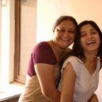 Poonam Kaur with her Mother