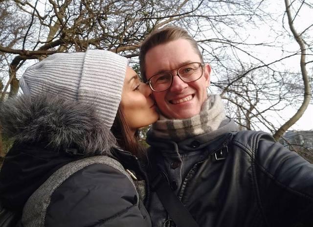 Bruna Abdullah with her boyfriend