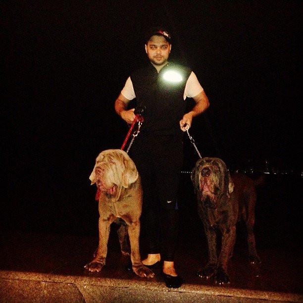 Farhan Azmi loves dogs