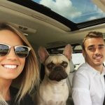 Antoine and his girlfriend Erika out for a date with their dog