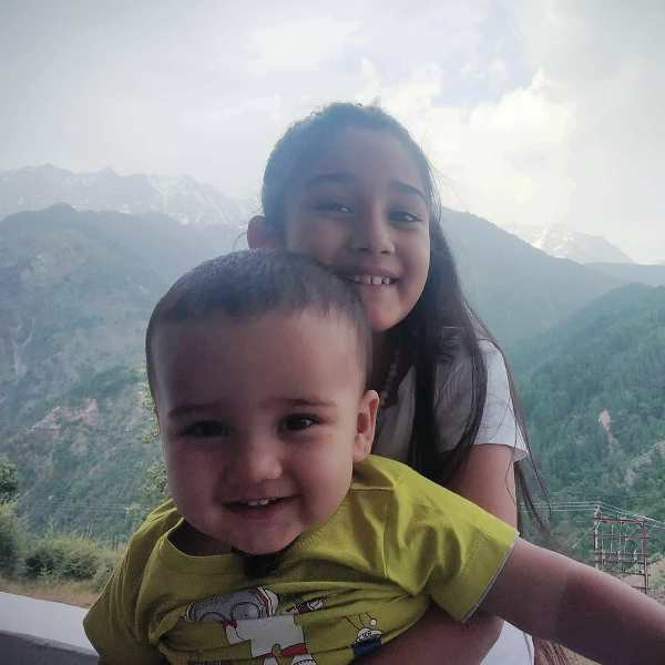 Maisha Dixit with Her Brother