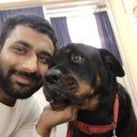 Saksham Yadav, a dog lover